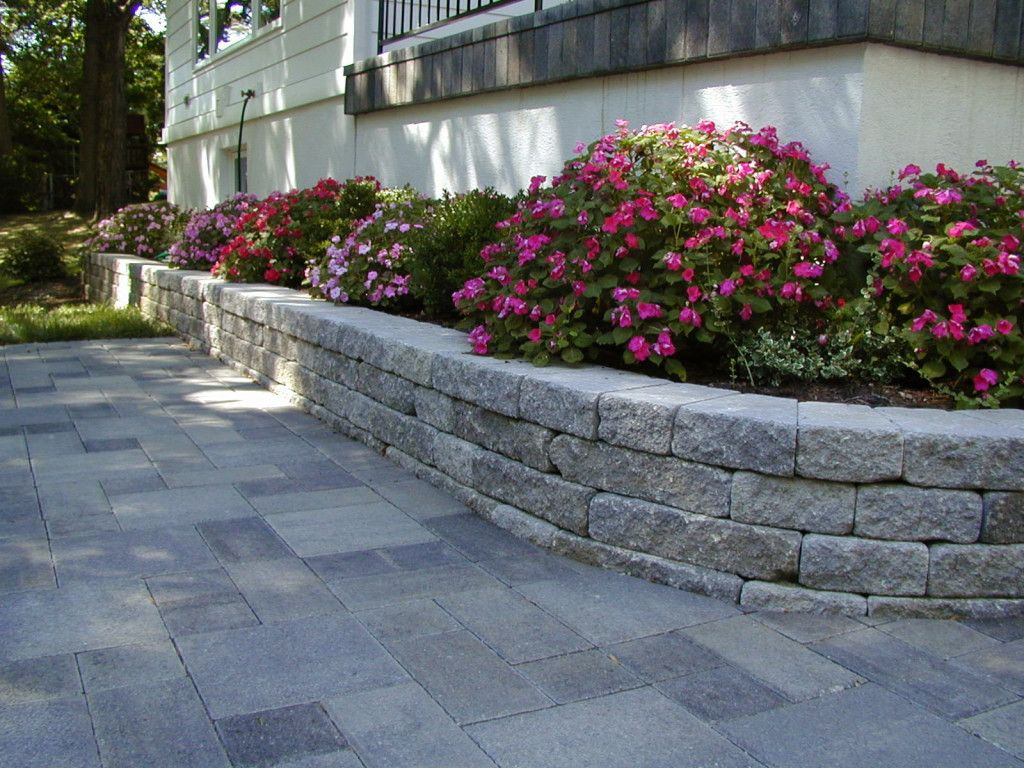 Weathered Stone Retaining Wall Outdoor Patio Ideas Backyards