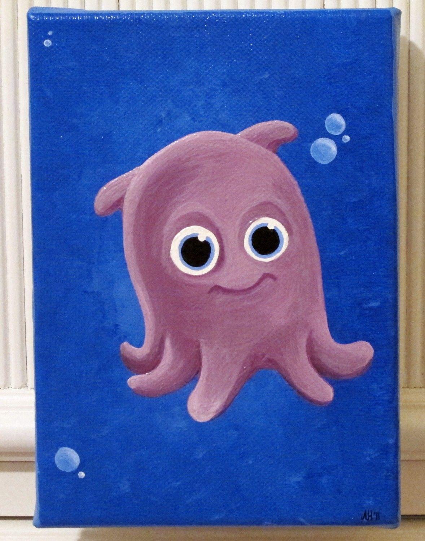 Finding Nemo Pearl The Octopus Disney Disney Paintings