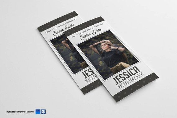 senior photography brochure template trifold pricing brochure for