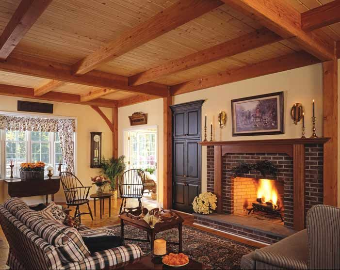 This Primitive Style Great Room Living Room Looks So Warm