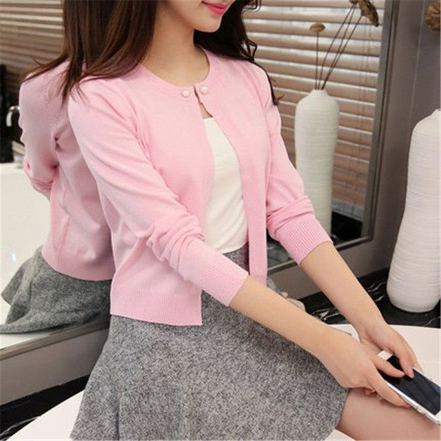 2016 high quality Spring autumn sweater women cardigan sweater Solid color One button women's cashmere sweater ZY825
