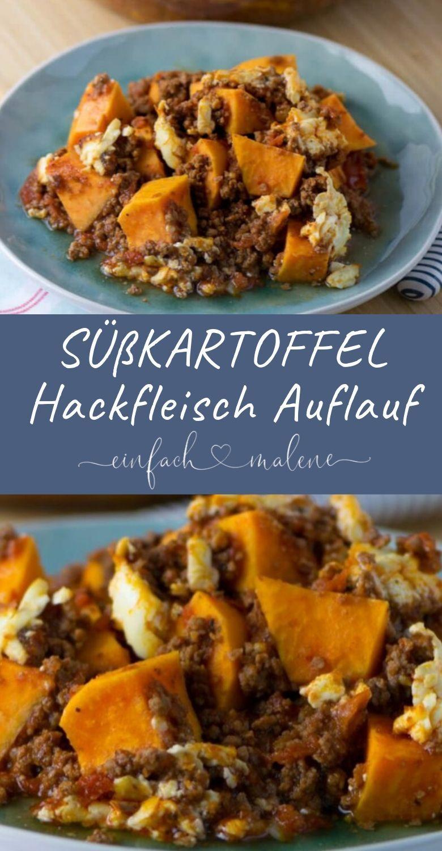 Knaller Rezept: Der schnelle Süßkartoffel Hackfleisch Auflauf mit Feta #sweetpotatorecipes