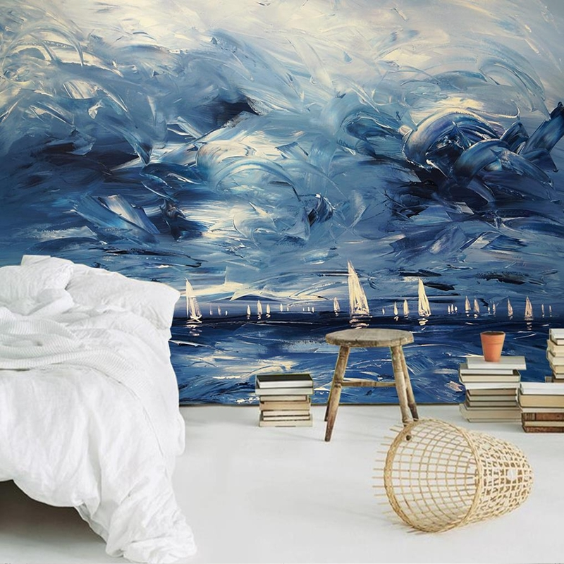 13.74$  Buy here - http://ali796.shopchina.info/go.php?t=32805262255 - Custom Modern Luxury Photo Wall Mural 3D Wallpaper Papel De Parede  Living Room Tv Backdrop Wall Paper Of Sailboat 13.74$ #aliexpress
