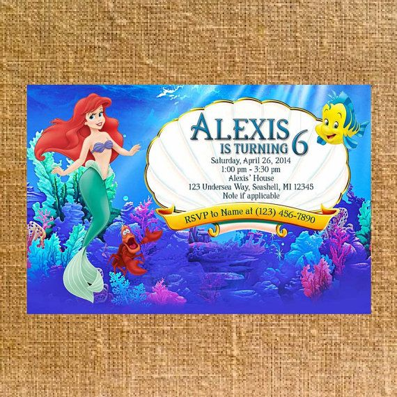Customized Little Mermaid Birthday Party Invite  by CK5Designs1, $8.75