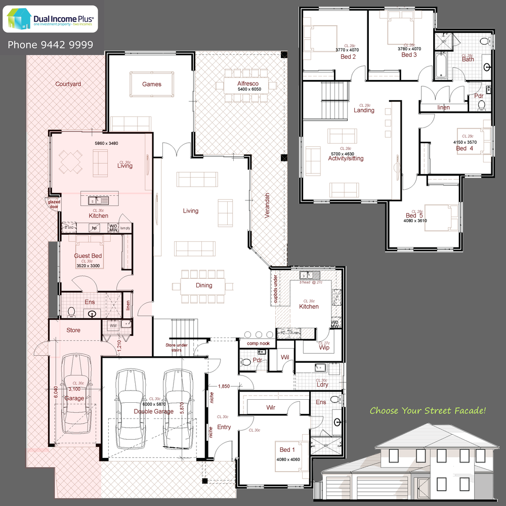 Bull Creek Multigenerational House Plans House Plans One Story House Plans