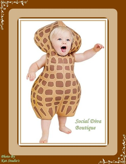 my baby peanut infant halloween costume by socialdivaboutique 2995