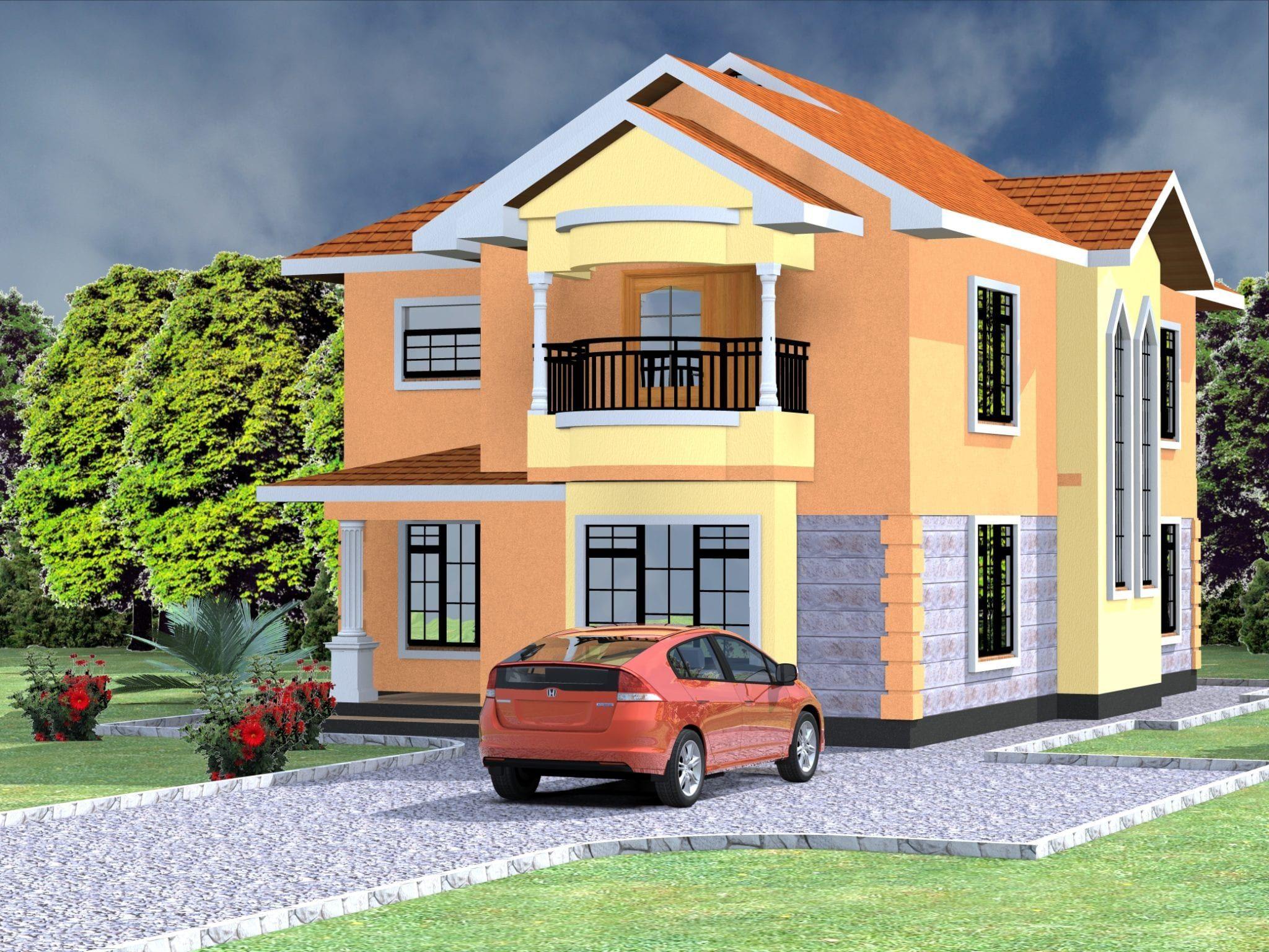 4 Bedroom Design 1032 A In 2020 Maisonette House Cost Dream House Plans