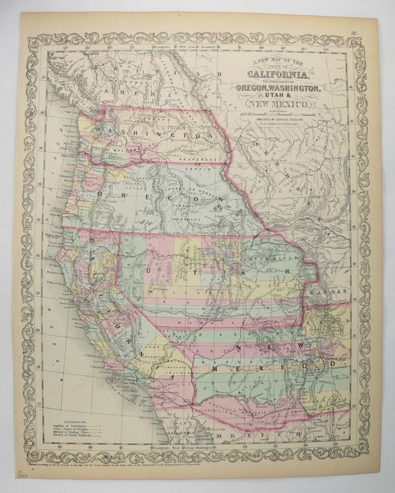 Map Of Arizona 1858.Map Of Arizona 1858 Twitterleesclub
