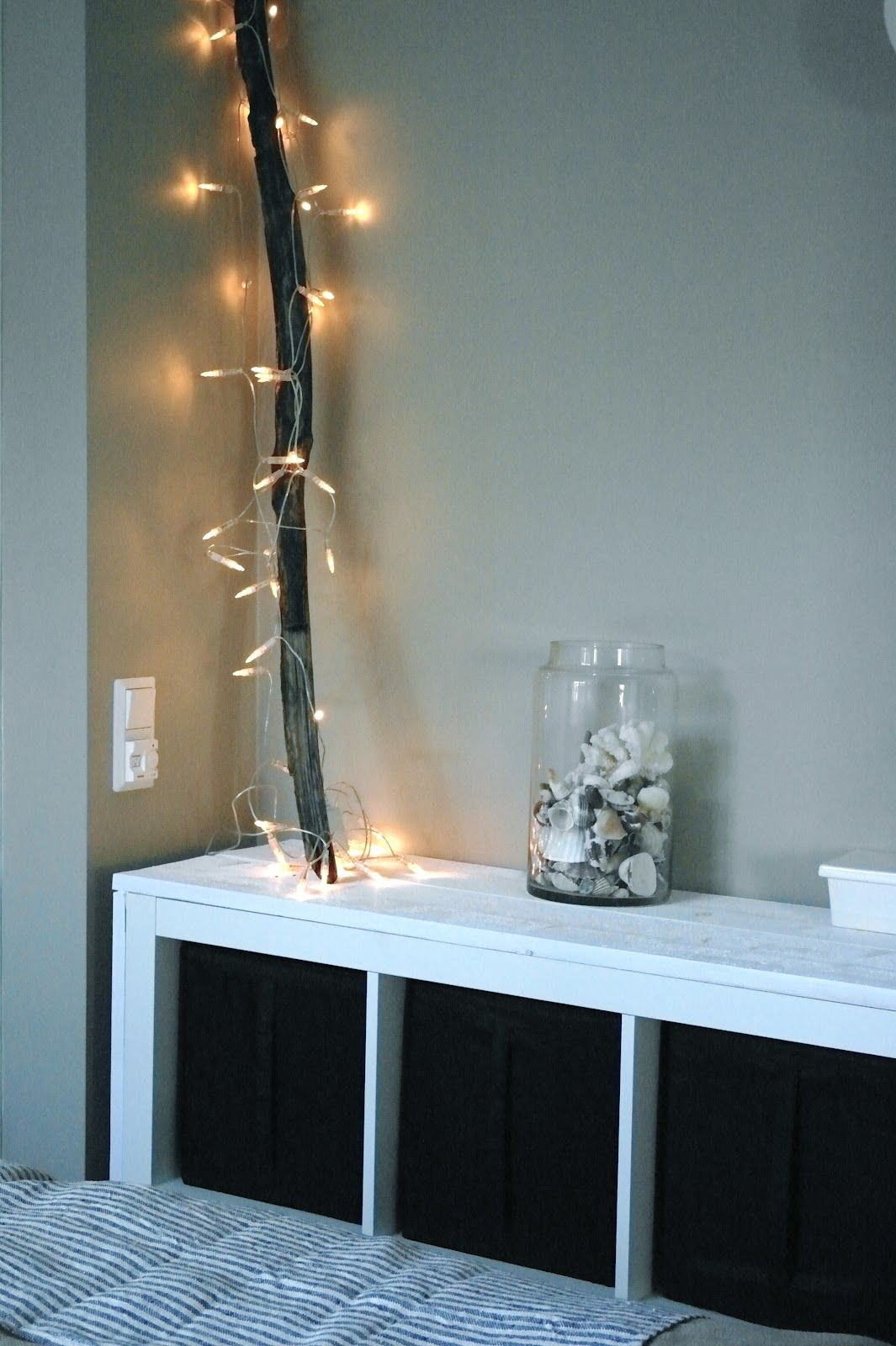 Lichterkette Wohnzimmer Kaminkonsole Dekorieren Ideen Und