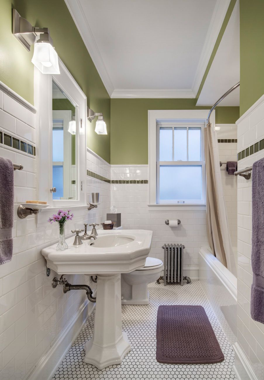 Craftsman bungalow bathroom renovations bungalow for Bathroom ideas 1920s home