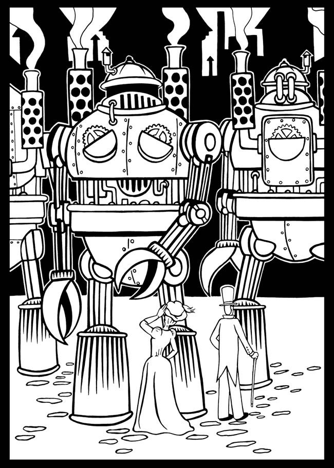 Steampunk Stained Glass Coloring Book Dover Publications | Coloring ...