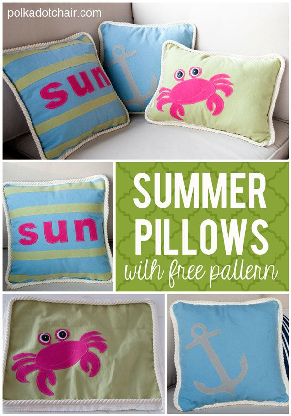 Includes Free Templates To Make The Crab And Anchor Pillows. Cute For  Outdoor Decor.
