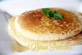 Too Stinkin' Cute: Coconut Lemon Pancakes