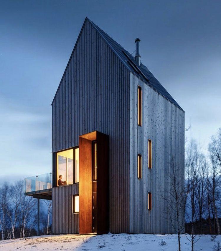 Haus Aus Holz, Holzfassade, Coole Architektur, Hütten Design, Kleine Häuser,  Haus Innenräume, Gebäude, Ferienhaus