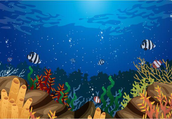 cartoon ocean wallpaper - Hľadať Googlom | Podmorský svet ...