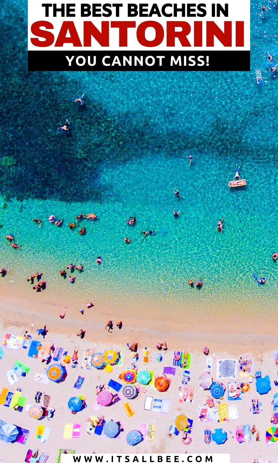 , Guide To The Best Beaches In Santorini Greece, Travel Couple, Travel Couple