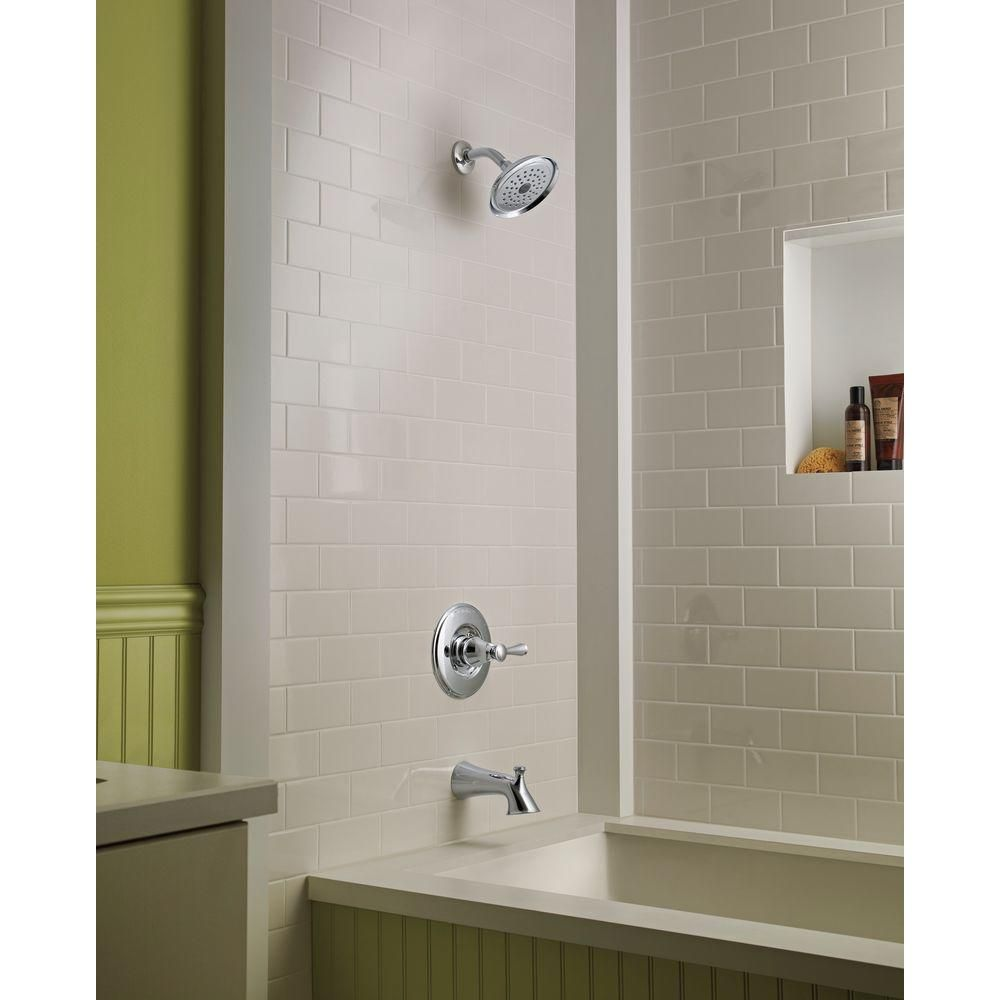 Delta Silverton Single-Handle 1-Spray Tub and Shower Faucet in ...