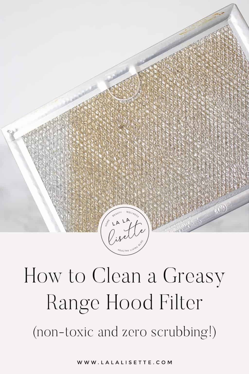 How To Clean A Greasy Range Hood Filter Without Scrubbing Range Hood Filters Range Hood Nontoxic Cleaning