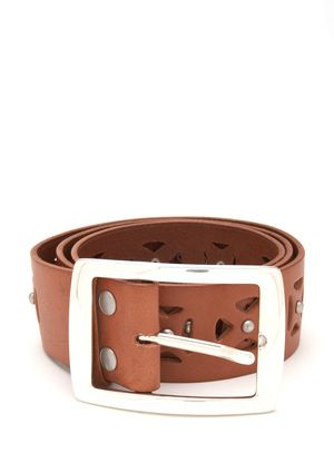 Nicole Miller - Baker belt with domed studs and laser-cut detail (also in black)