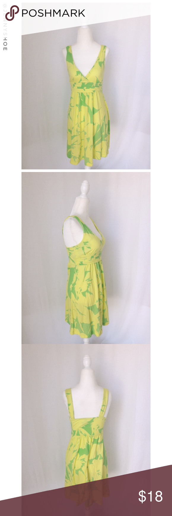 785b0ba3ec2f {american eagle} neon floral dress A casual yet cute neon yellow and lime  green