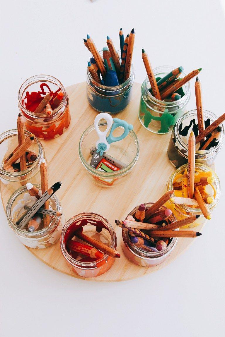 Ordnung für Malsachen - Stifte sortieren und aufbewahren #kitaräume