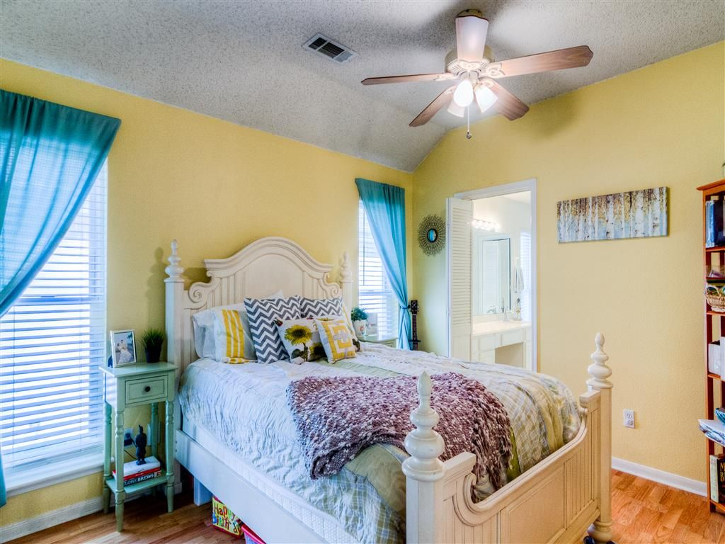 Master Bedroom Inspiration yellows, blues and greens