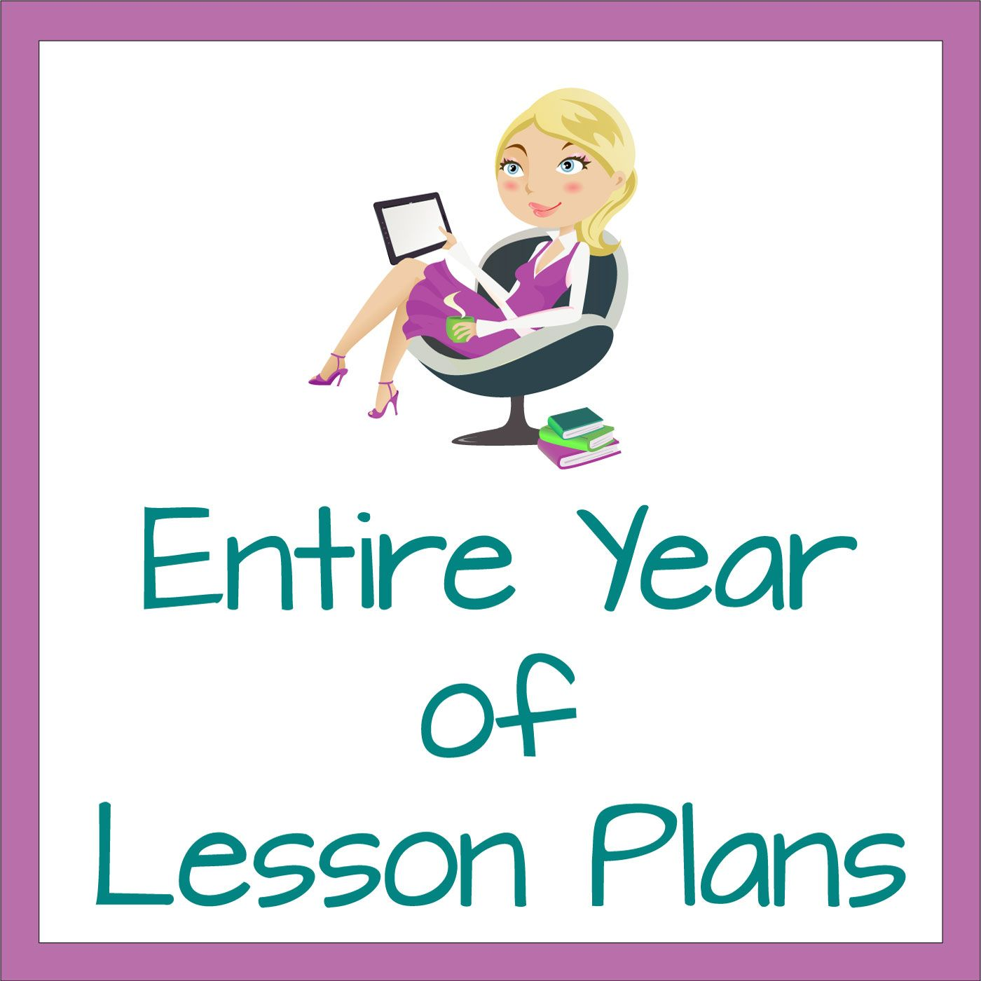 editable entire year of lesson plans in microsoft publisher format