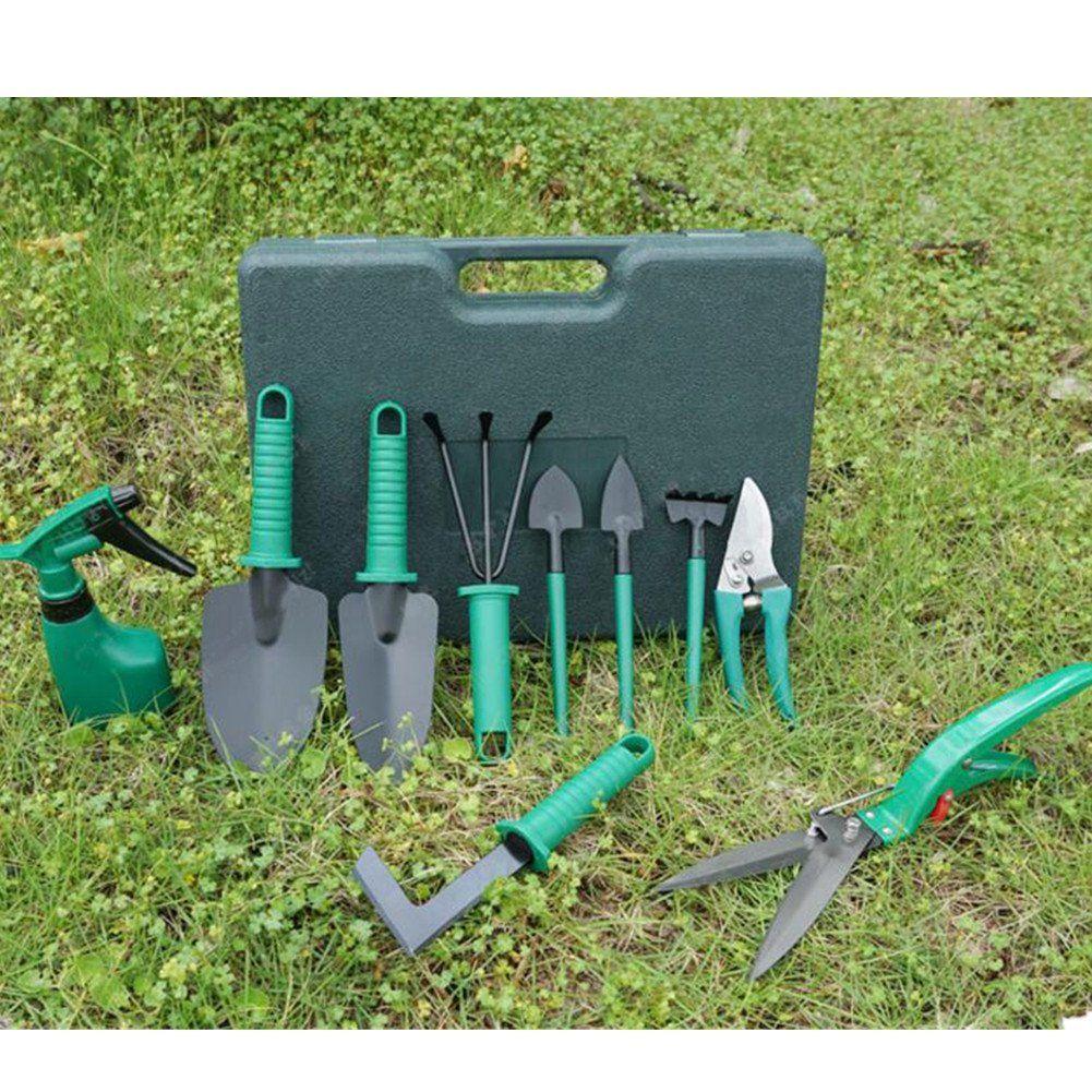 Homeself 10 Pieces Garden Tools Set Vegetable Garden Hand Tools