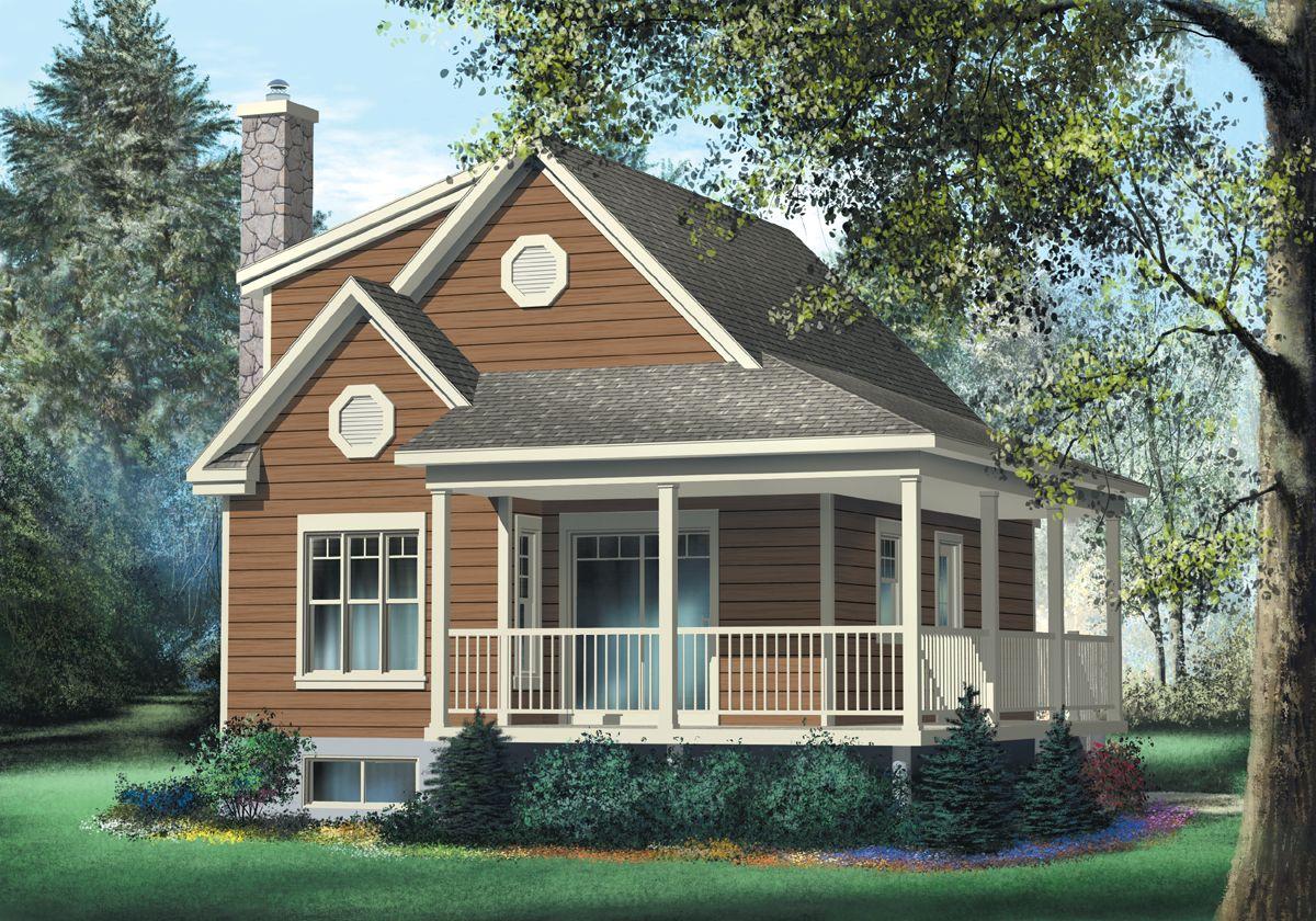 Plan 80562PM: Cute Vacation Cottage | Pinterest | Cottage house ...