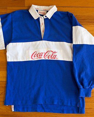 ae00812c VINTAGE-80s-COCA-COLA-RUGBY-SHIRT | Memory Lane | Shirts, Coca cola ...