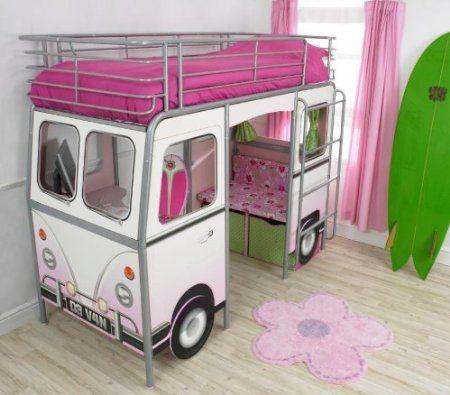 De Van Girls Cabin Bed Amazon Co Uk Kitchen Home Kids Room Design Kid Beds Girl Beds