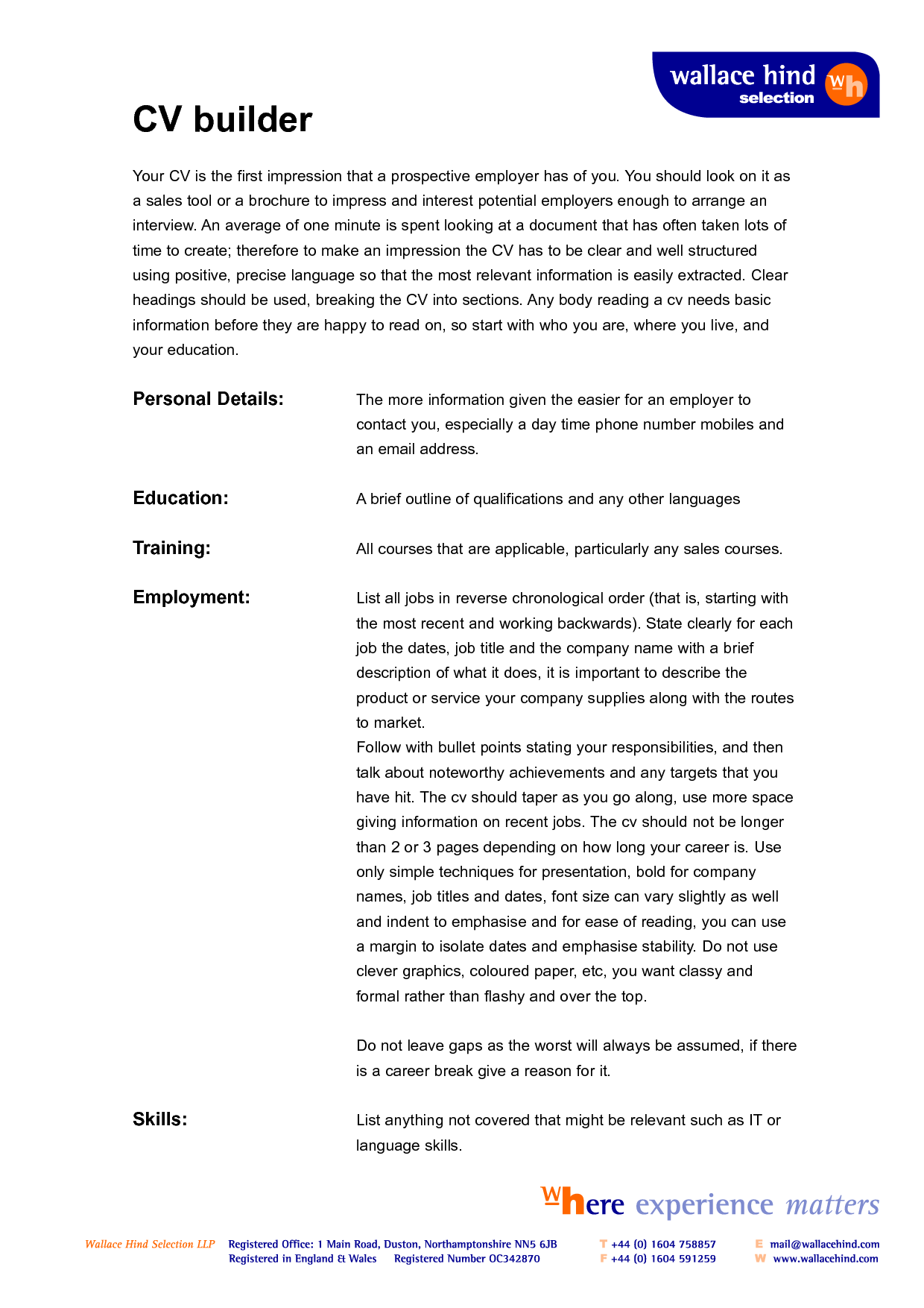 Builder Resume templates, Good resume examples, Writing