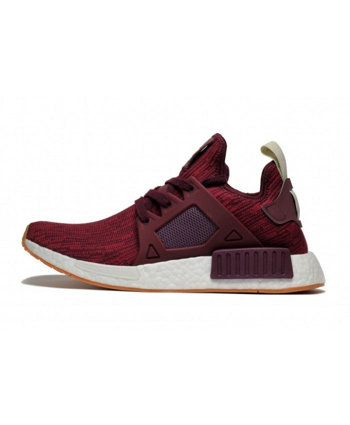 Adidas NMD XR1 Primeknit Shoes Maroon Collegiate Burgundy Ftwr White Bb2368