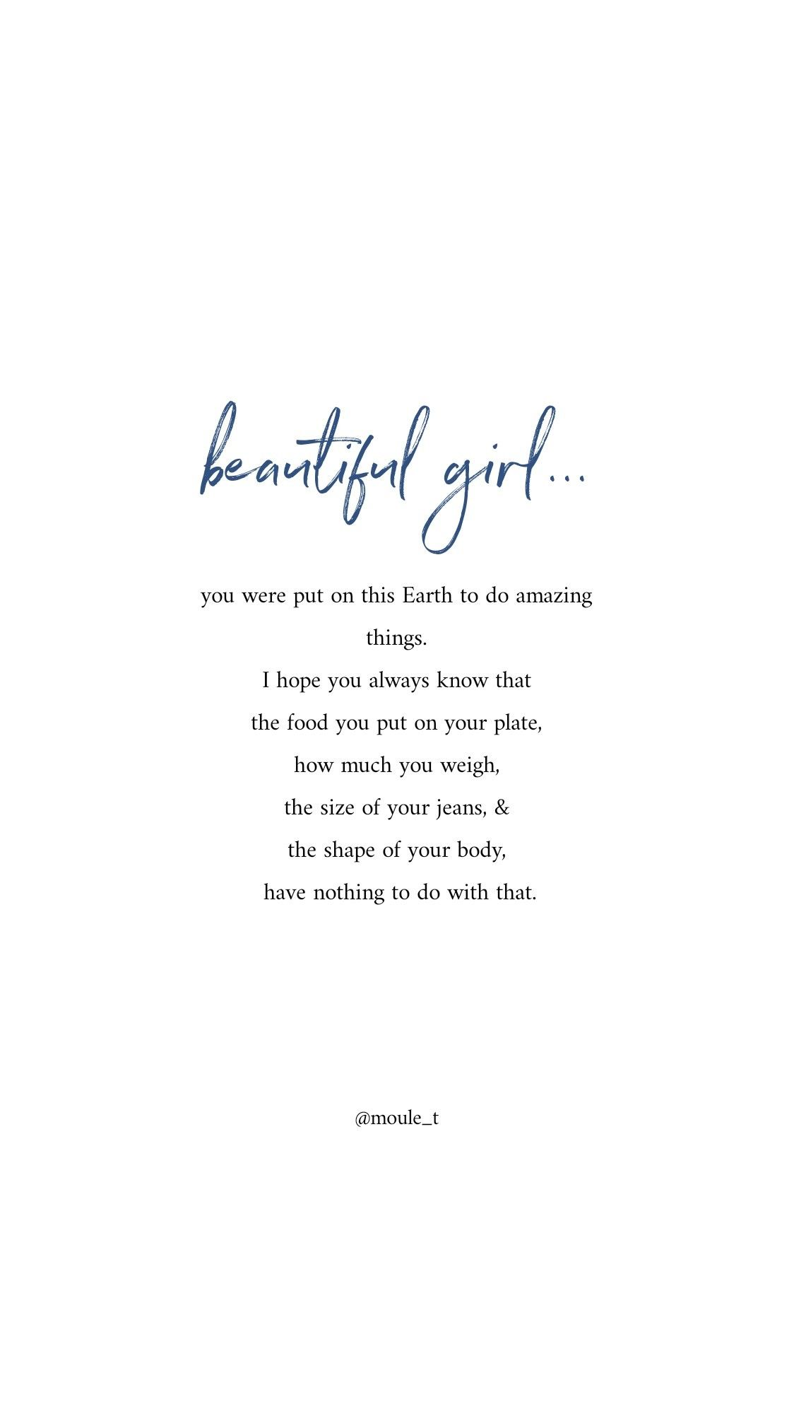 Beautiful girl, you were meant to do amazing things and your apperance has nothing to do with that.
