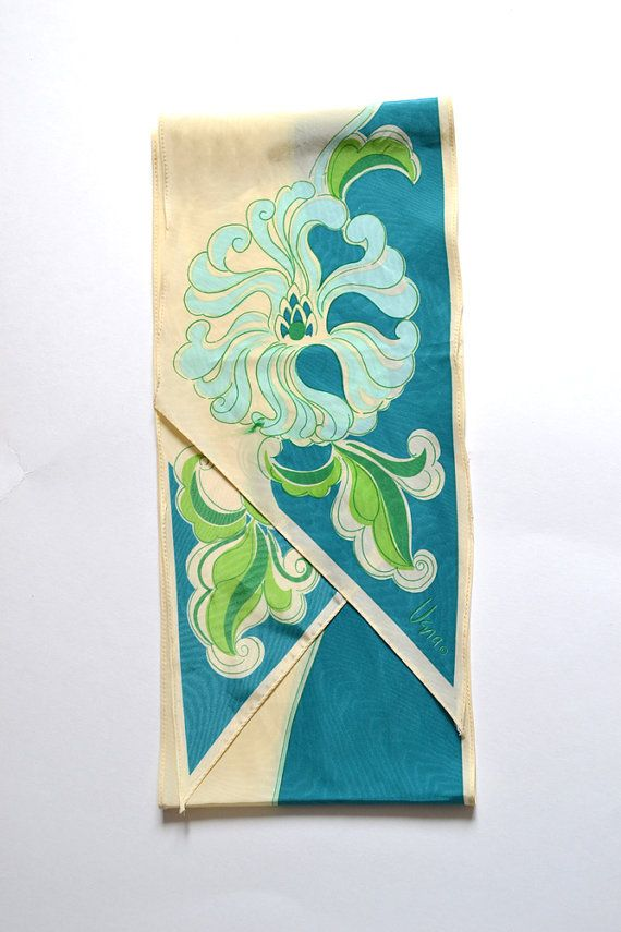 Turquoise Scarf / Vera Scarf / Aqua Scarf / Silk Vera ...