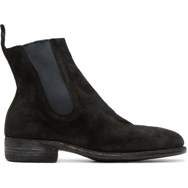 Guidi Black Suede Chelsea Boots (7,060 CNY) ❤ liked on Polyvore featuring men's  fashion