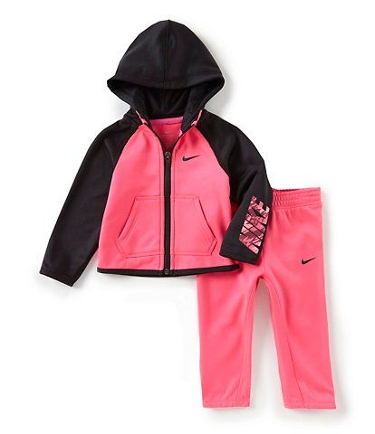 1964db1dc Nike Baby Girls 12-24 Months Therma-FIT Zip Hoodie and Joggers Set ...