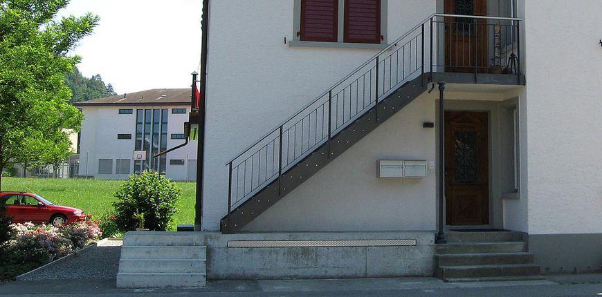 stahltreppen f r den aussenbereich balkongel nder pinterest stahltreppen balkongel nder. Black Bedroom Furniture Sets. Home Design Ideas