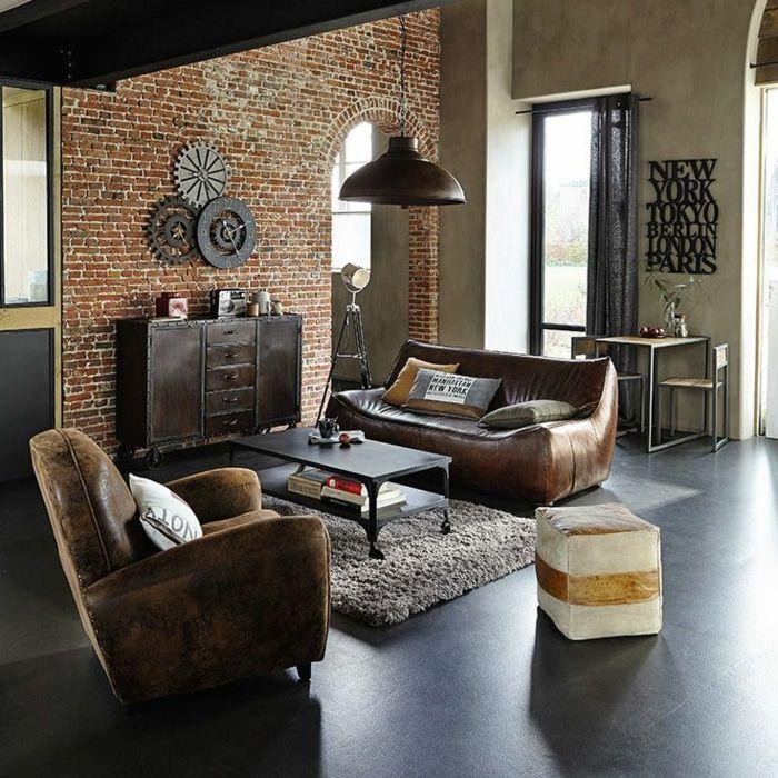 1001 ideas de interiores encantadores en estilo vintage for Ladrillo decorativo interior
