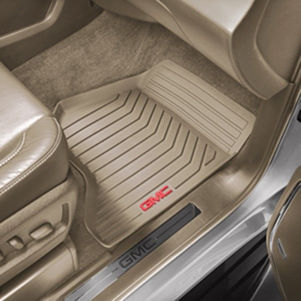 Yukon Denali Floor Mats Front Set All Weather Dune