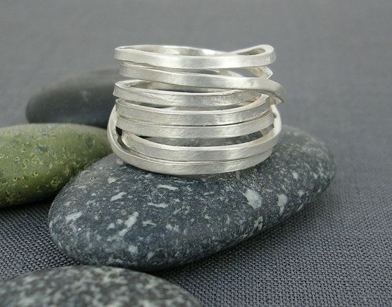 Wrapped Silver Ring by carlapenniemcbride on Etsy, $90.00