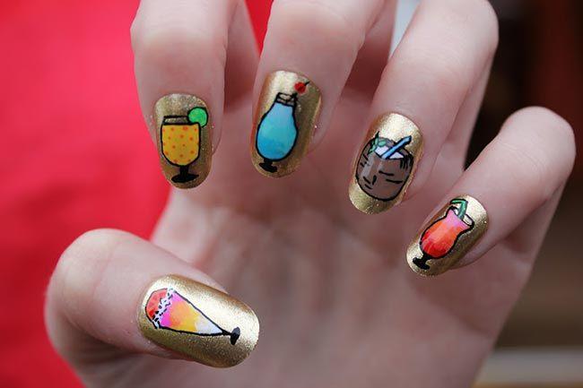 Cool_Summer_Inspired_Nail_Art  #NailArt