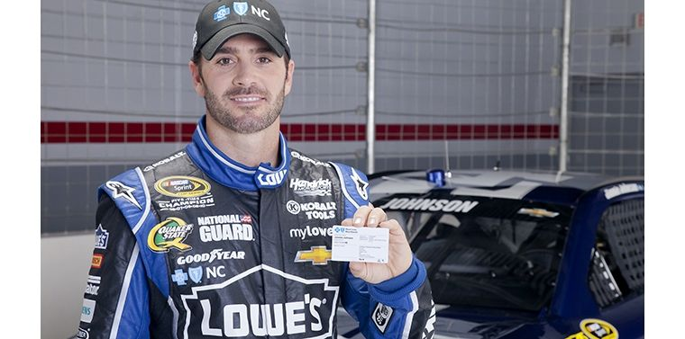 Jimmie Johnson as Part of Blue Cross and Blue Shield of North Carolina