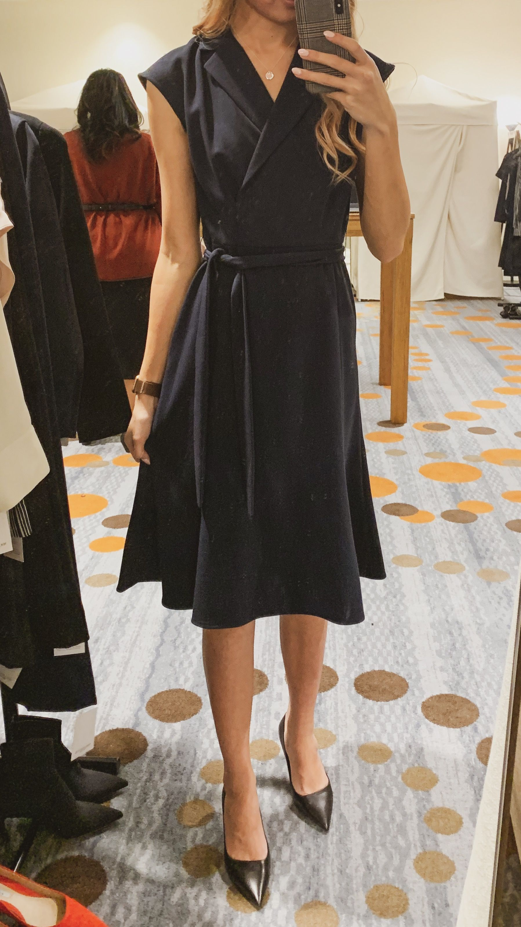Isabelle Dress – Light Twill in Navy #businessprofessionaloutfits