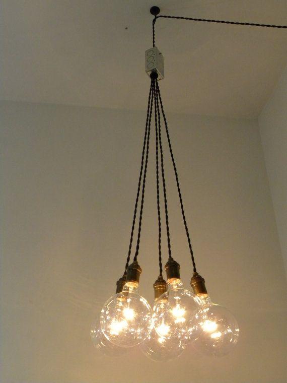 Plug In Cer Chandelier Pendant Lighting Modern Swag Custom Lamp Globe Bulb Antique Cloth