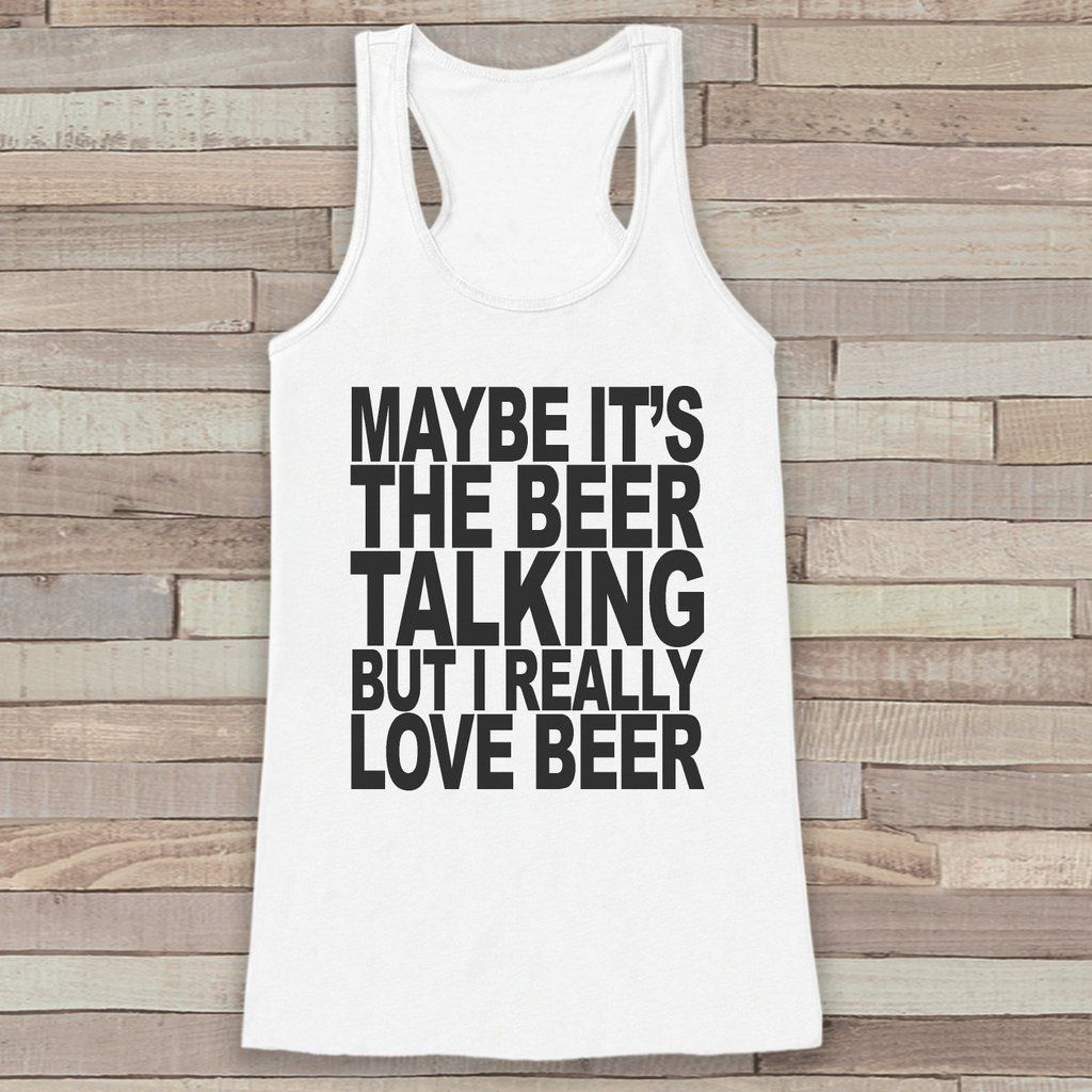 i really love beer tank top funny drinking shirt shirt for