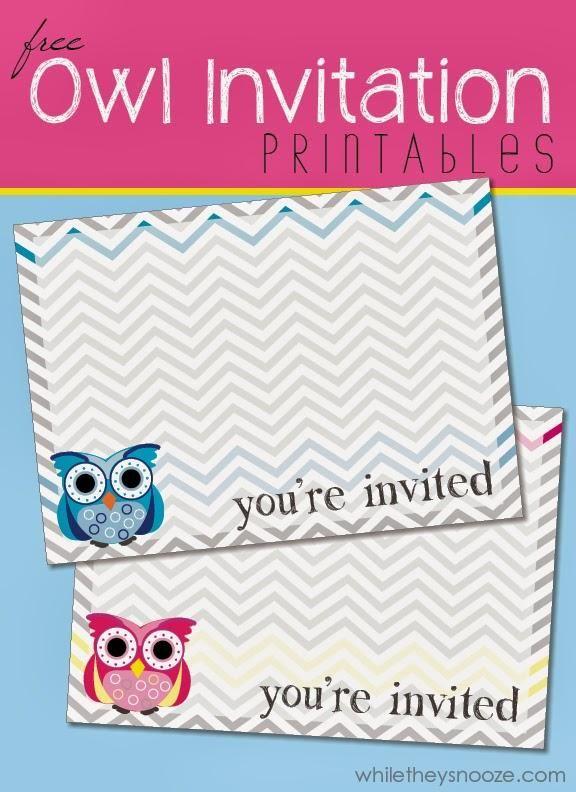 While They Snooze Free Owl Printable Invitations Owl Baby Shower Invitations Owl Invitations Owl Printables