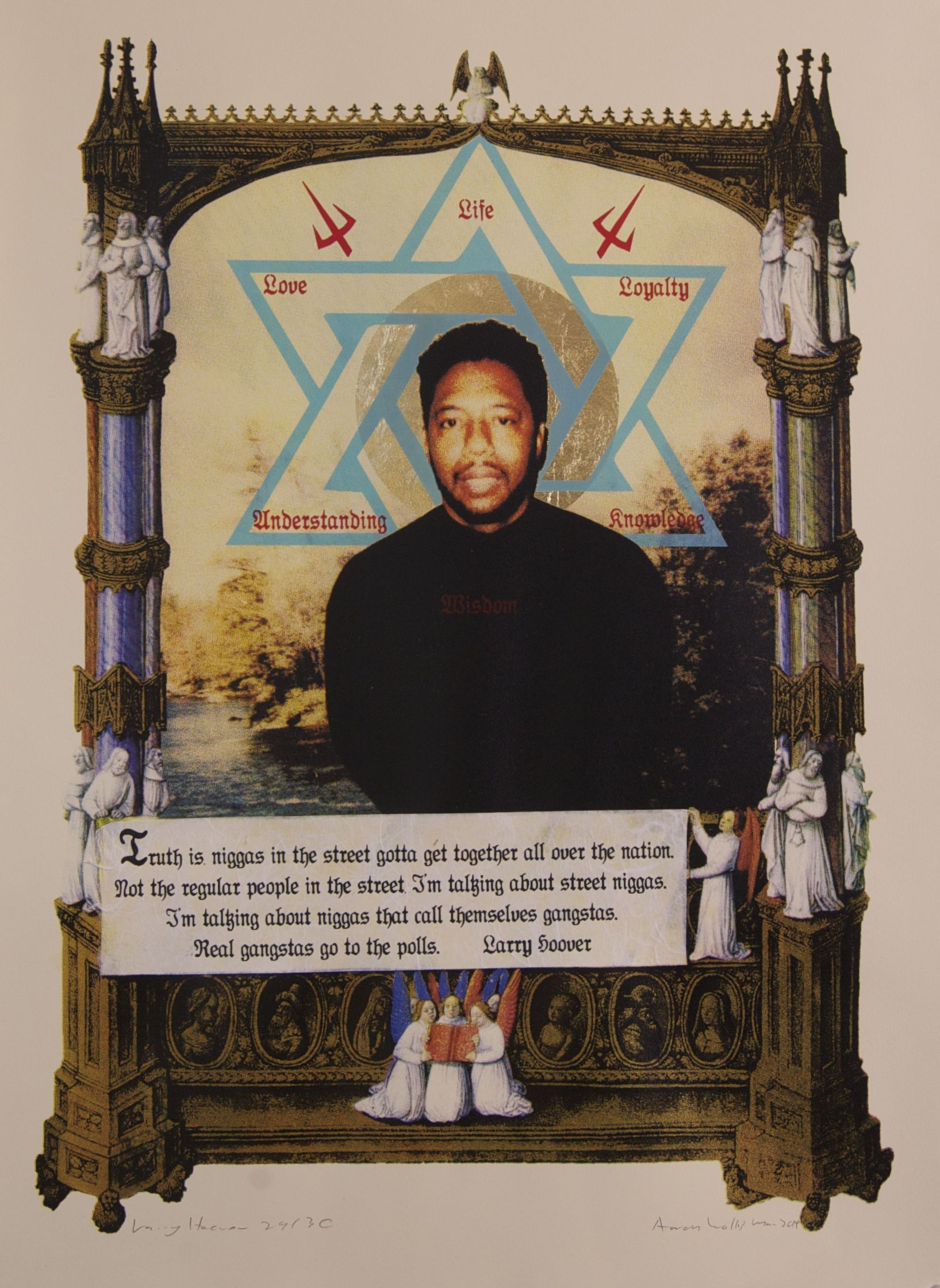 Silkscreen of larry hoover real pinterest gangster disciples silkscreen of larry hoover malvernweather Choice Image
