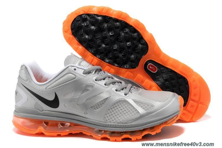 Black · New Mens Nike Air Max 2012 Metallic Silver Black Total Orange ...