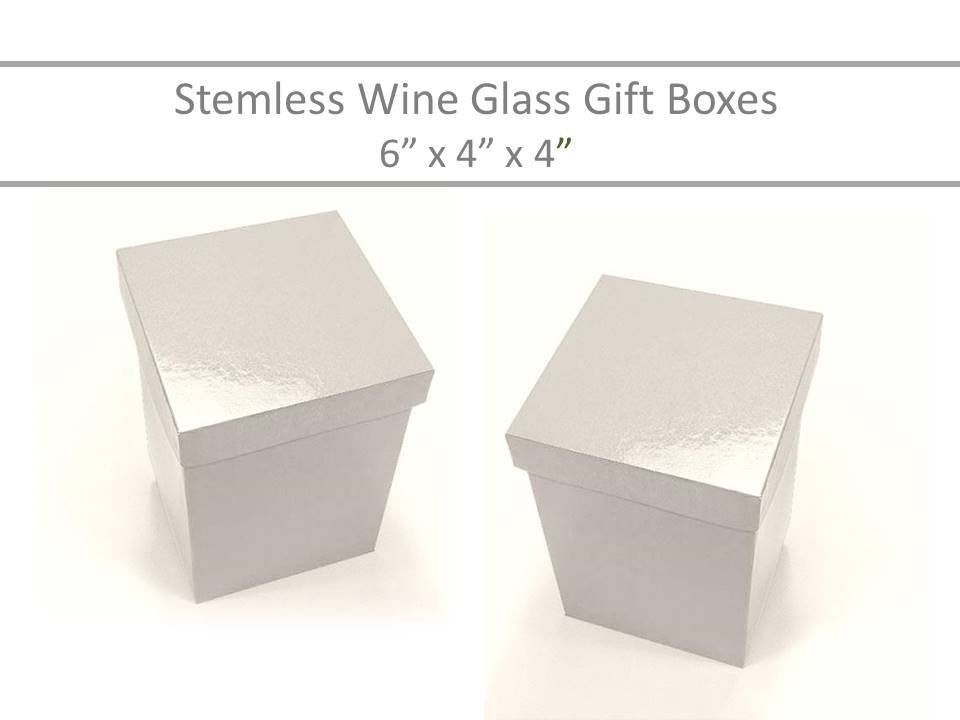 Stemless Flute Boxes 10 White Gift Boxes 6 X 4 Stemless Glass Box Mason Jar Gift Boxes Candle Favor Boxes Stemless Flute Boxes Wine Glass Gift Box Mason Jar Gifts Glass Boxes